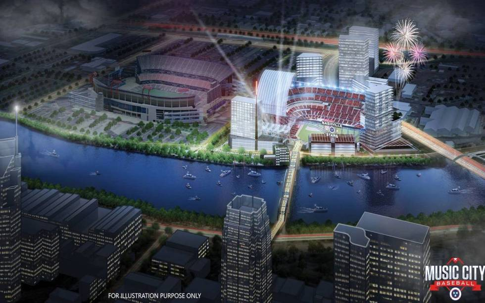 Renderings of a proposed major league baseball stadium in Nashville, Tennessee. Source: Music C ...
